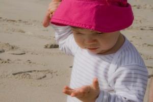 areia na mão