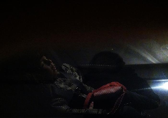a dormir de boca aberta à chegada a casa...